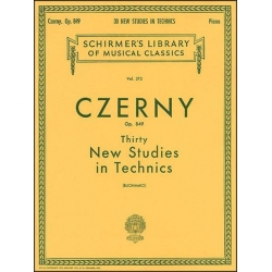 AVAILABLE IN STORE ONLY - Czerny: 30 New Studies in Technique, Opus 849